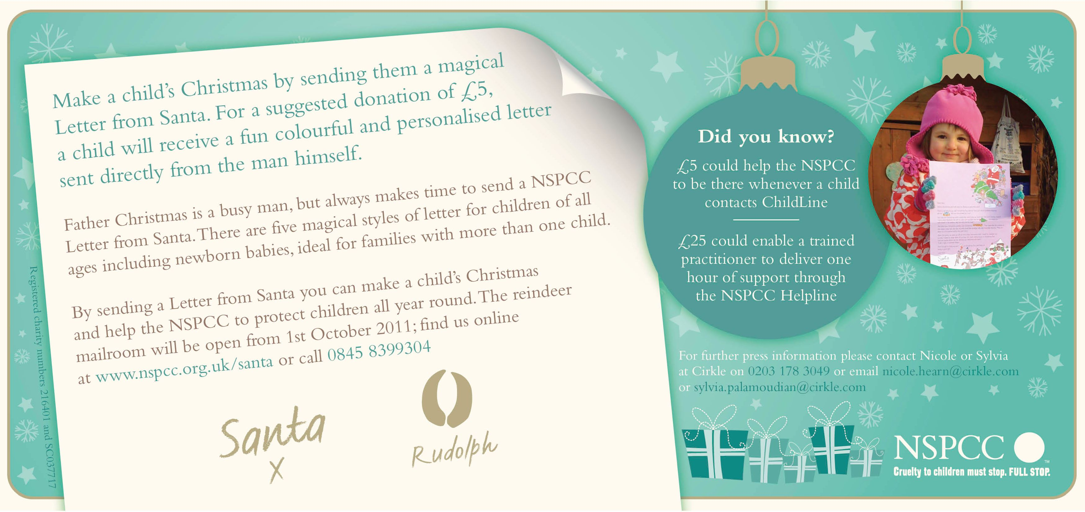 make a childs christmas with an nspcc letter from santa loved
