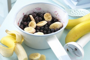 Banana and Blueberry