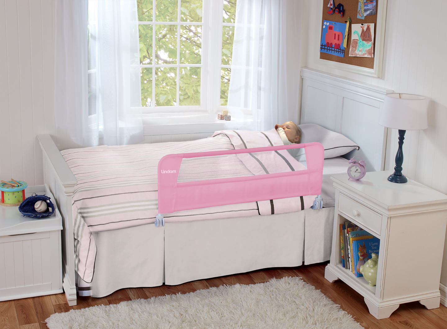 Safety Toddler Bed Rail Pink 051320