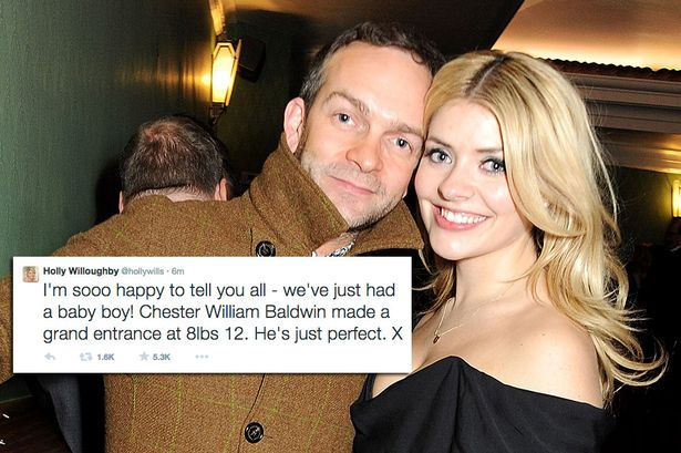 Holly Willoughby Welcomes Baby Boy Chester William