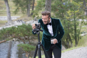 David Beckham sets up the camera on teh HAIG CLUB advert.