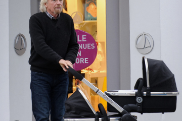 EXC: RICHARD BRANSON PUSHING A PRAM