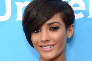 """PASADENA, CA - JANUARY 07:  Frankie Sandford of """"The Saturdays"""" attends NBCUniversal's """"2013 Winter TCA Tour"""" Day 2 at Langham Hotel on January 7, 2013 in Pasadena, California.  (Photo by Jason Kempin/Getty Images)"""