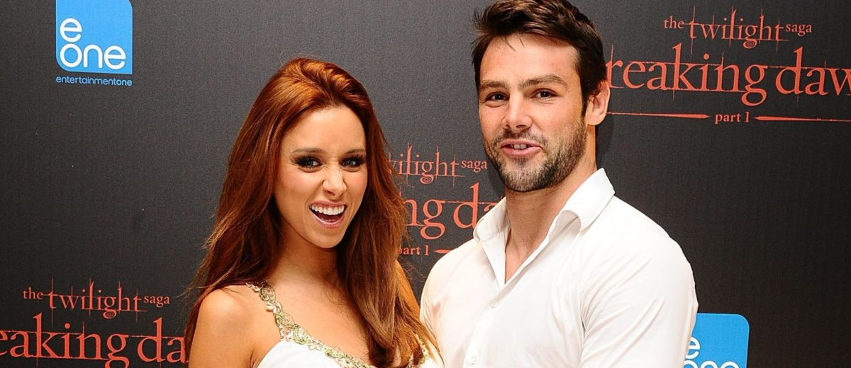 File photo dated 16/11/11 of Ben Foden and Una Healy, as the England rugby star Foden has revealed he is as happy changing nappies as he is on the rugby pitch - as he fronts a drive encouraging fathers to play a bigger role in raising their babies.