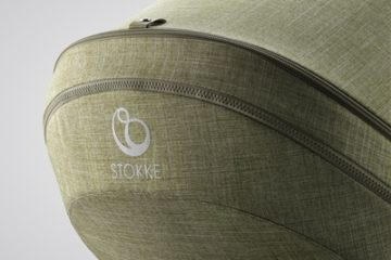 Stokke® Trailz™ Seat, Nordic Green. Detail.