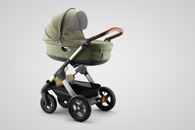 Stokke® Trailz™ with Carry Cot, Nordic Green.