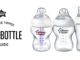 Baby bottle guide banner