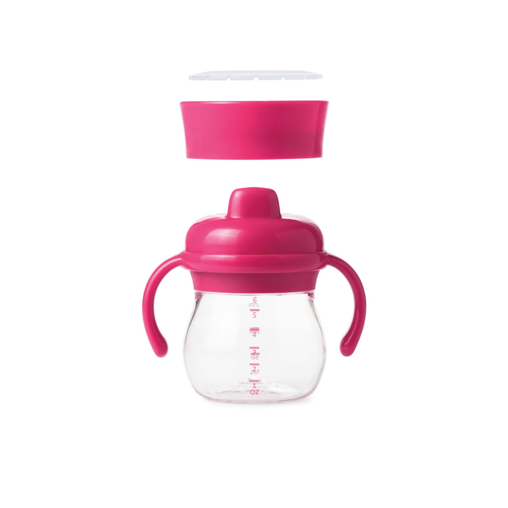Hard Spout Sippy Cup Set Raspberry